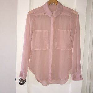 Sheer Button Down Shirt
